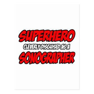 Superhero...Sonographer Postcard