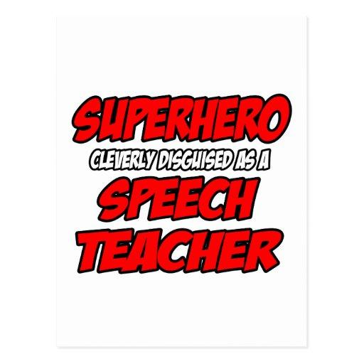 Superhero...Speech Teacher Postcard