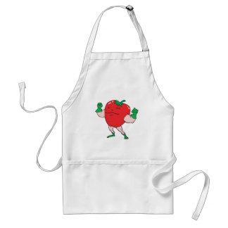 superhero strawberry cartoon character adult apron