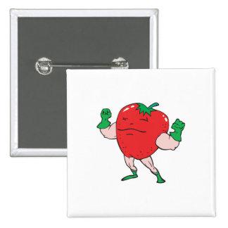superhero strawberry cartoon character buttons