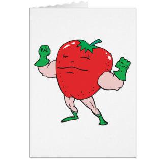superhero strawberry cartoon character cards