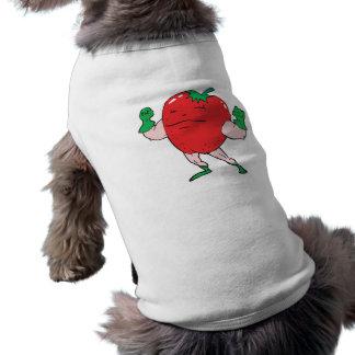 superhero strawberry cartoon character doggie t shirt