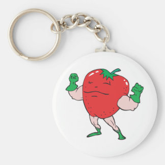 superhero strawberry cartoon character keychains