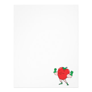 superhero strawberry cartoon character personalized letterhead