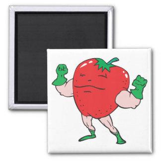 superhero strawberry cartoon character fridge magnets