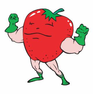 superhero strawberry cartoon character photo cutouts