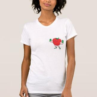 superhero strawberry cartoon character shirt