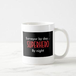 Superhero surveyor classic white coffee mug