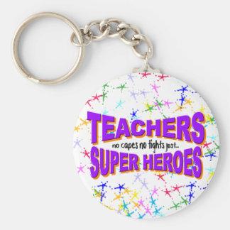 Superhero Teacher keychain
