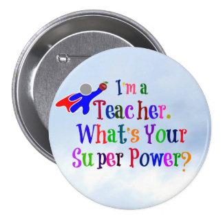 Superhero Teacher Pinback Button