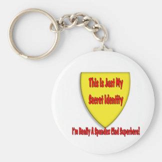 Superhero - This is Just My Secret Identity Basic Round Button Keychain