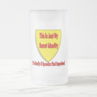 Superhero - This is Just My Secret Identity Frosted Glass Beer Mug