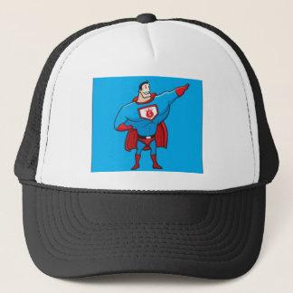 superhero trucker hat