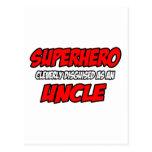 Superhero...Uncle Postcard