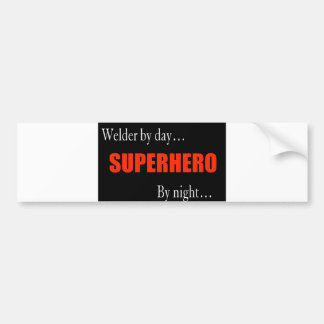 Superhero Welder Bumper Sticker