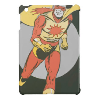Superhero with Blast Symbol running iPad Mini Cases