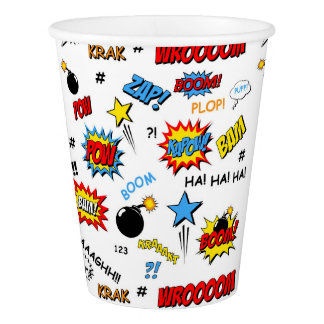 Superhero Word Art Cup