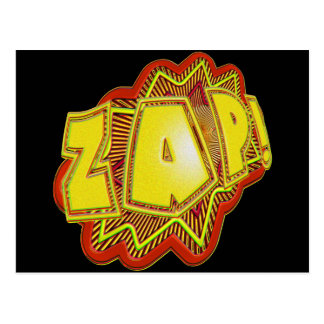 Superhero ZAP! Postcard