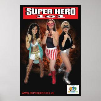 Superhéroe 101 poster de tres Superheroines