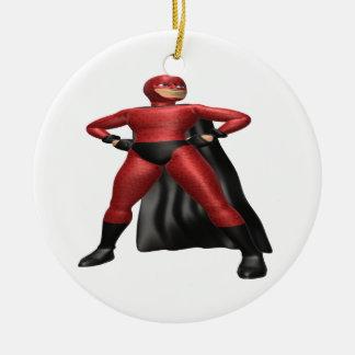 Superhéroe Adorno Navideño Redondo De Cerámica