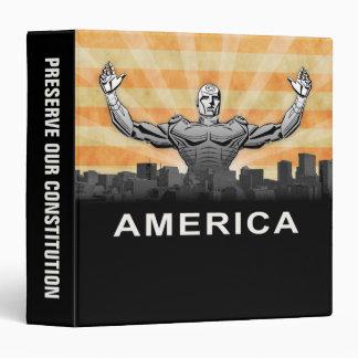"Superhéroe americano carpeta 1 1/2"""
