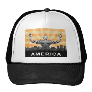 Superhéroe americano gorras