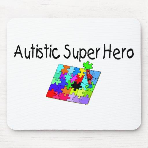 Superhéroe autístico alfombrillas de raton