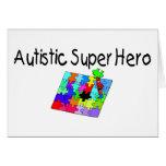 Superhéroe autístico tarjetas