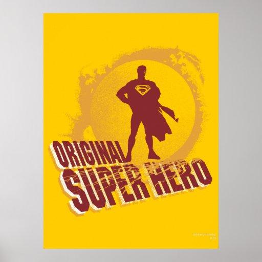 Superhéroe de la original del superhombre póster