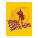 Superhéroe de la original del superhombre tarjetas postales