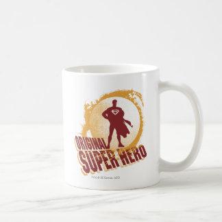 Superhéroe de la original del superhombre taza