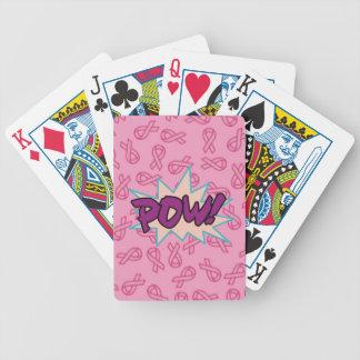 Superhéroe del cáncer de pecho baraja de cartas