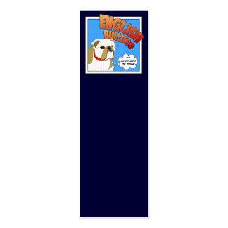 Superhéroe del dogo tarjetas de visita mini