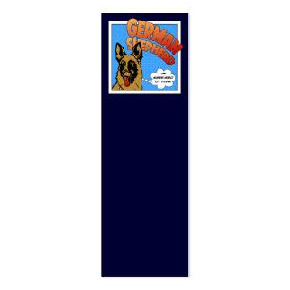 Superhéroe del pastor alemán tarjetas de visita mini