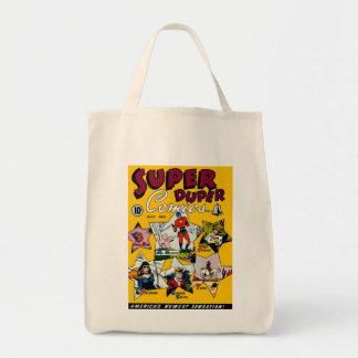 Superhéroe del vintage cómico bolsa