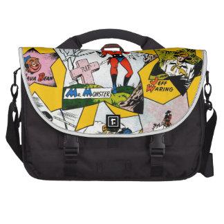 Superhéroe del vintage cómico bolsas para portatil