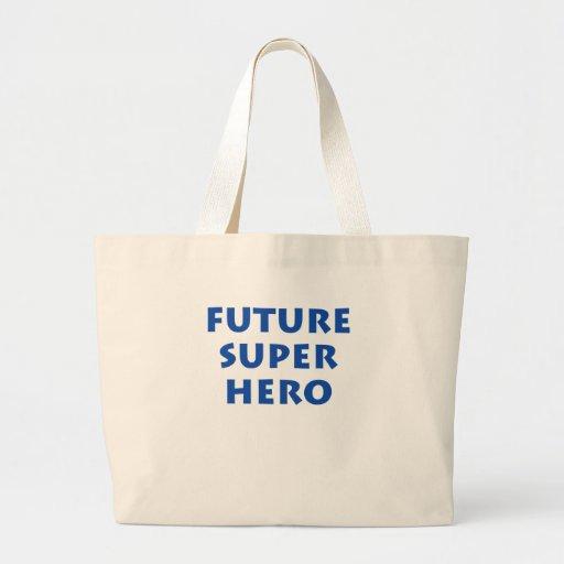 Superhéroe futuro bolsa tela grande