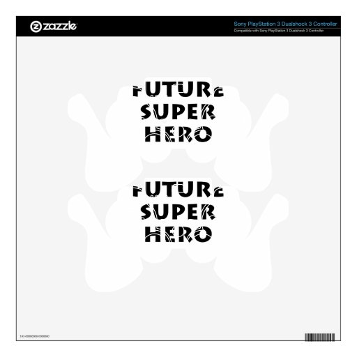 Superhéroe futuro mando PS3 calcomanía