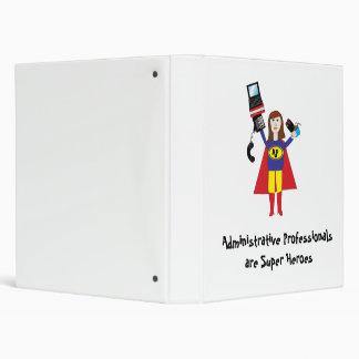 "Superhéroe profesional administrativo (Brunette) Carpeta 1"""