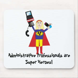 Superhéroe profesional administrativo Mousepad Alfombrilla De Ratones