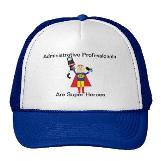 Superhéroe profesional administrativo (rubio) gorro de camionero