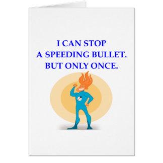 superhéroe tarjeta de felicitación