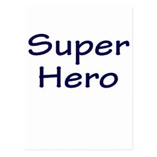 Superhéroe Tarjeta Postal