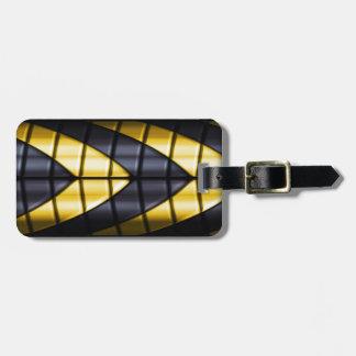 Superheroes - Black and Yellow Bag Tag
