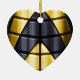 Superheroes - Black and Yellow Ceramic Ornament