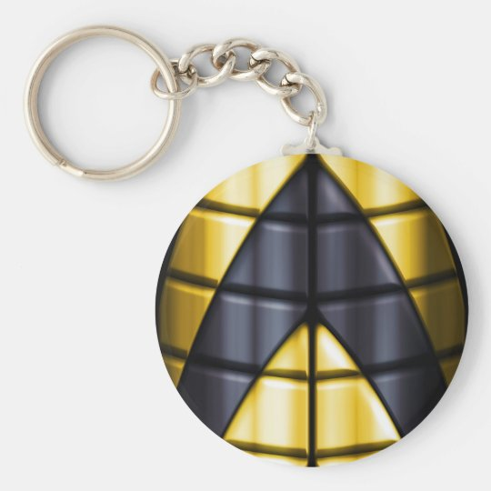 Superheroes - Black and Yellow Keychain