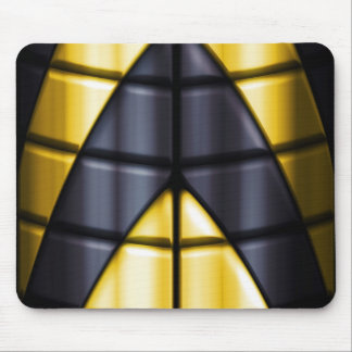 Superheroes - Black and Yellow Mouse Pad