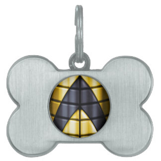 Superheroes - Black and Yellow Pet ID Tag