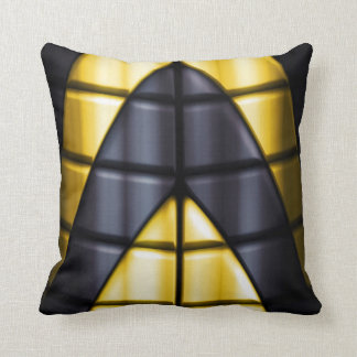 Superheroes - Black and Yellow Pillow