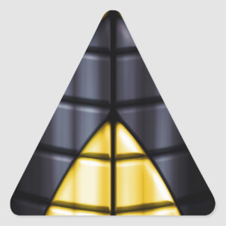 Superheroes - Black and Yellow Triangle Sticker